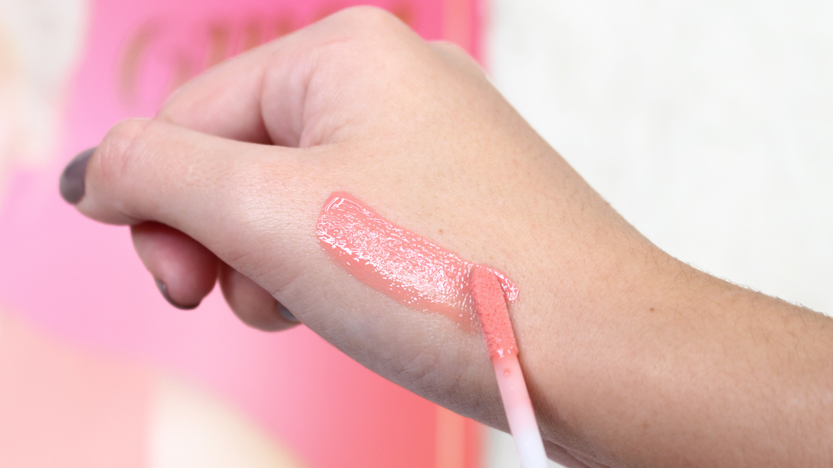 gloss sweet peach too faced swatches