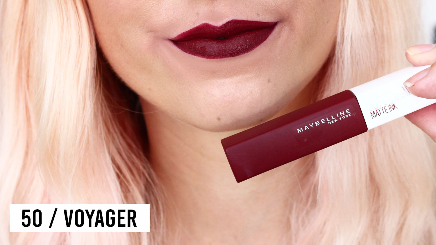 swatches Superstay matte ink Maybelline 50 voyager