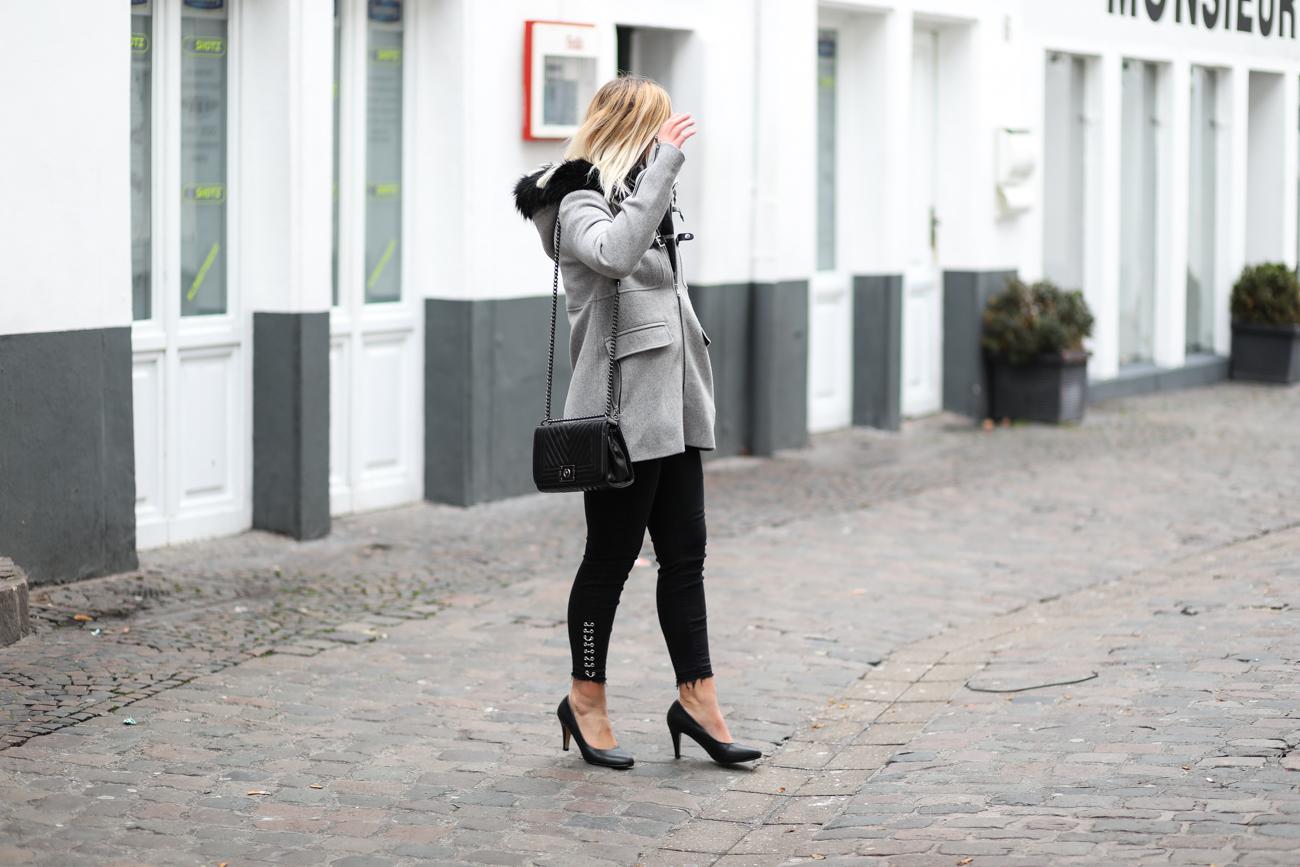 manteau gris pimkie