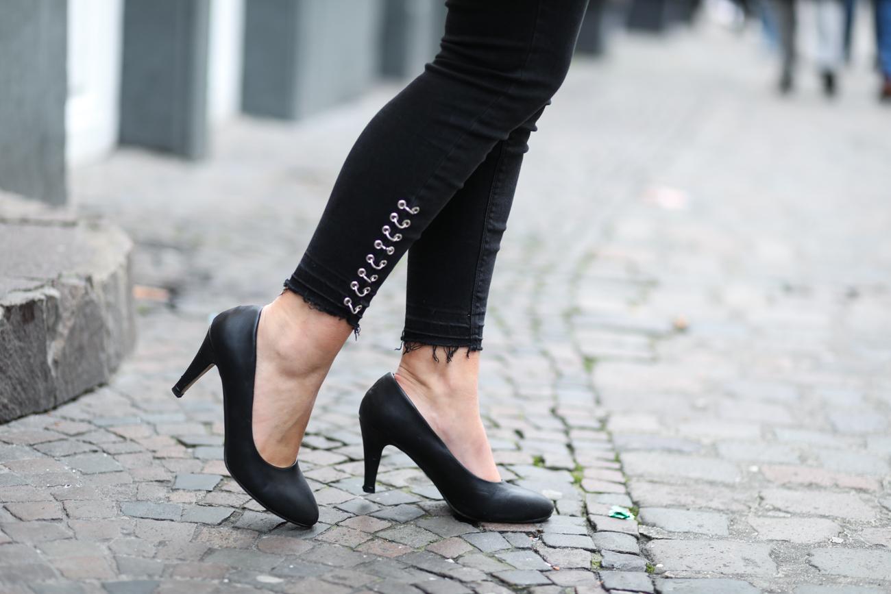 escarpins noirs talons